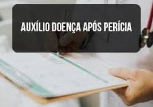 Pedido de concessão de auxílio-doença, excesso de prazo e pagamento sem perícia
