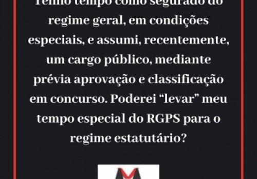 Tempo especial no RGPS e averbação no RPPS